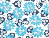 DS Quilts: Picnic Modern Floral Blue Half Yard - Denyse Schmidt