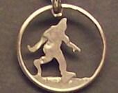 Sasquatch Dime Cut Coin Jewelry