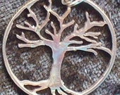 Tree Hand Cut Coin Jewelry