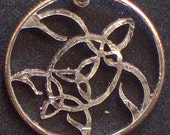 Turtle Celtic Hand Cut Coin Jewelry