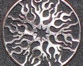 Sun Hand Cut Coin Jewelry