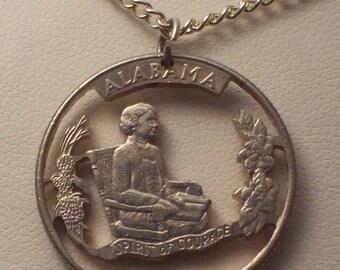 Alabama, Alaska, Arizona, Arkansas, California Hand Cut Coin Jewelry