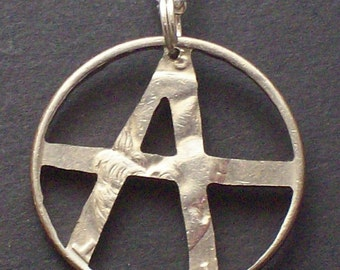 Anarchy half-dollar Hand Cut Coin Jewelry