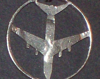 Plane B-52 Bomber Cut Coin Jewelry