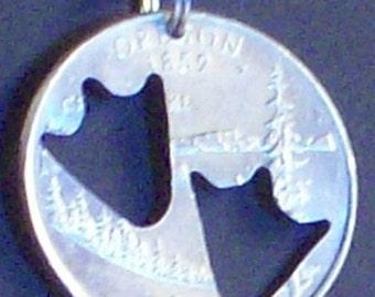 Duck Feet Hand Cut Coin Jewelry