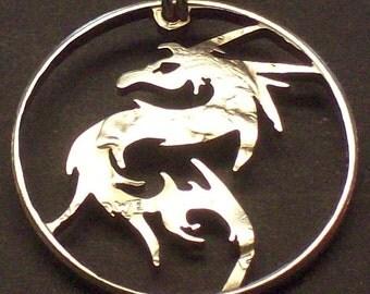 Dragon Tattoo Cut Coin Jewelry