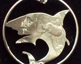 Shark Hand Cut Coin Jewelry