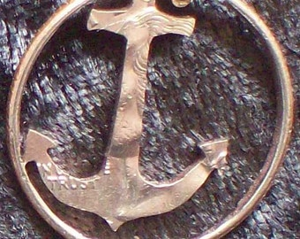 Anchor Hand Cut Coin Jewelry