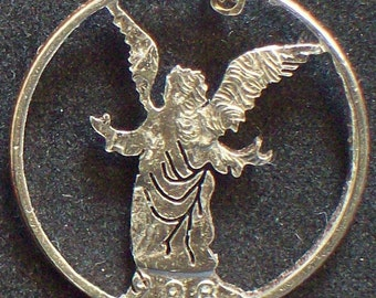 Angel Hand Cut Coin Jewelry