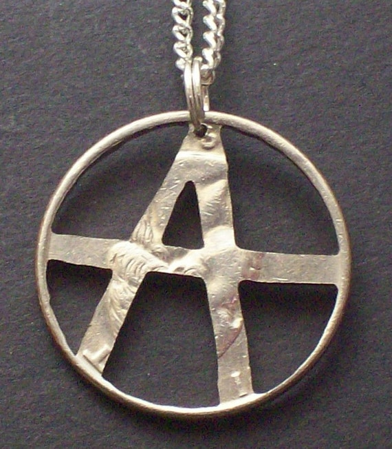 Anarchy Hand Cut Coin Jewelry