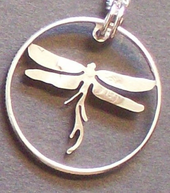 Dragonfly Hand Cut Coin Jewelry