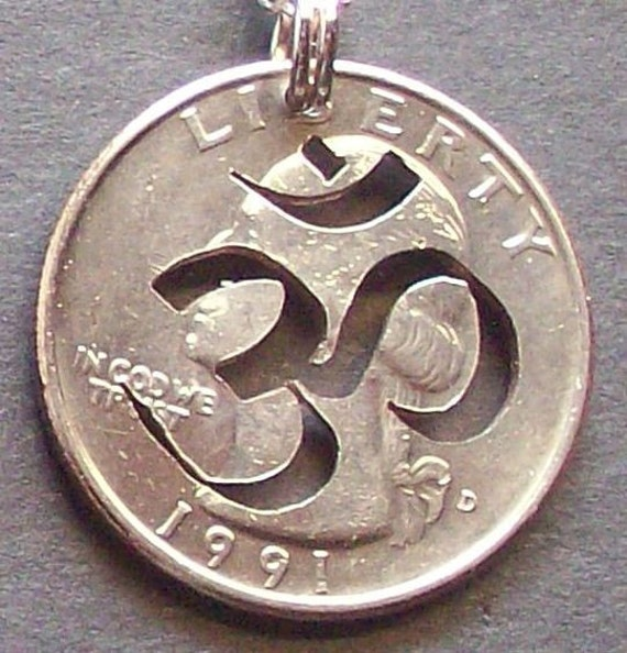 OM Hand Cut Coin Jewelry