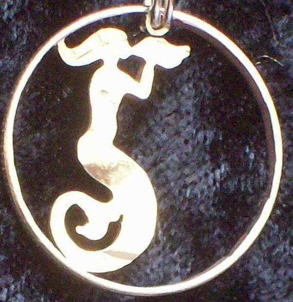 Mermaid Hand Cut Coin Jewelry