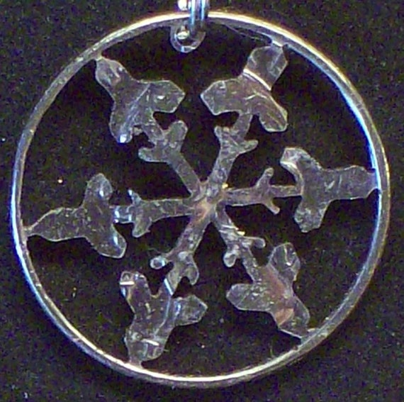 Snowflake Hand Cut Coin Jewelry