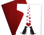 Labs in Love - Greeting card personalized with your message