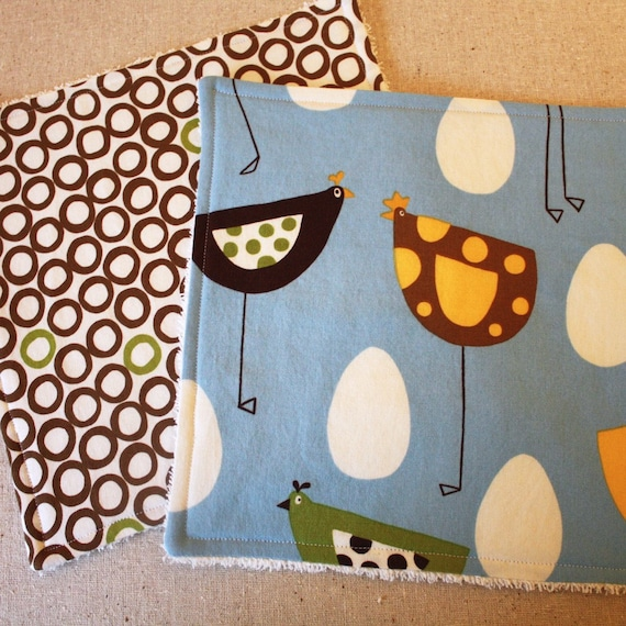 The Dressy Drooler Wash and Wipe Set - Metro Market Chicks and Monaluna Cirlces