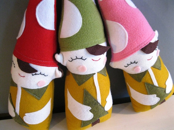 Forest Elf, Woodland Plush Toy in Green and Gold