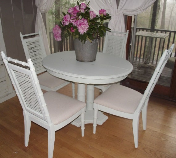 items similar to shabby chic table dining kitchen with 4 chairs