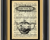 Buy 3 Get 1 Free all prints include FREE SHIPPING Teapot Vintage Illustration Print on 1883 Antique Music Book Page (No 800-31)