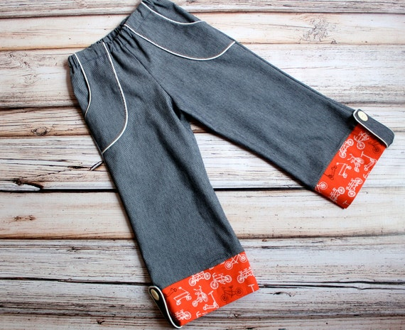 Run Around Boys Wide Leg Pants, Size 4/5, Ready to Ship by The Cottage Mama