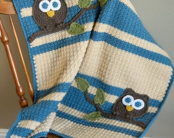 Owl Baby Blanket Boy Baby Shower Gift