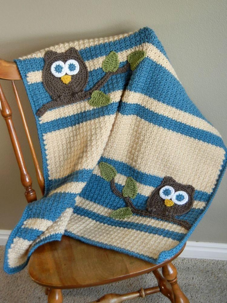 Owl Baby Blanket Boy Baby Shower Gift