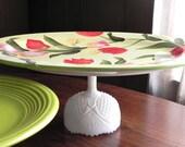 Cake Stand Dessert Pedestal Tulip Garden By E. Isabella Designs. As Featured In Martha Stewart Weddings.