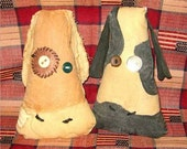 OFG-Handmade Primitive Grungy Cow Head Ornies FREE shipping