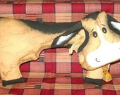 OFG-Handmade Primitive Grungy Country Cow FREE shipping