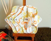 Panty Liner Menstrual Pads Set Of 4 Wide Wing Cotton Flannel-Ready to Ship