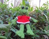 Lulu the Frog - knitted toy