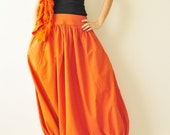 SALE 15% All Around The World Part II...Orange Cotton Harem Pants 2 sizes Available - aftershowershop