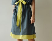SALE20 % Butter Fly II ...Dark Green Cotton Dress