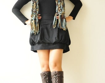 SALE 50%Tulip ...... Black Cotton Skirt- Size S (Limited)
