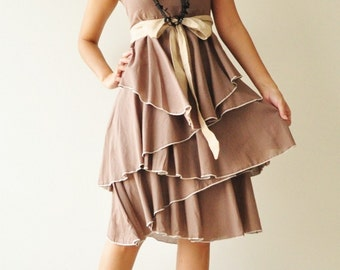 SALE 50% Waft ... Brown Cocktail Dress (Limited)