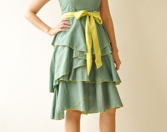 SALE 50% Waft ... Green Cocktail Dress 2 Sizes Available(Limited)