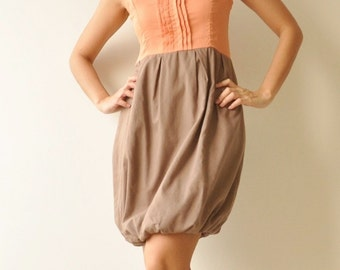 SALE 50% Pretty world ... Orange-Brown Cocktail Dress(Limited)
