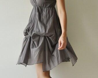 SALE50% Jazzy.... Gray  Cotton Dress