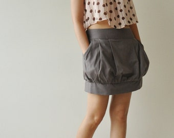Sale 20% Gray Cotton Skirt - 3 Sizes Available