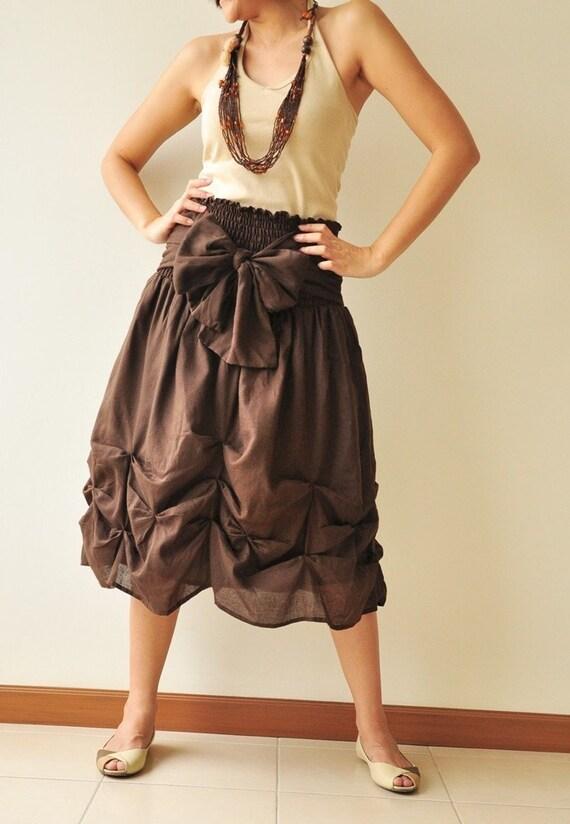 Baby Doll.... Dark Brown Cotton Dress
