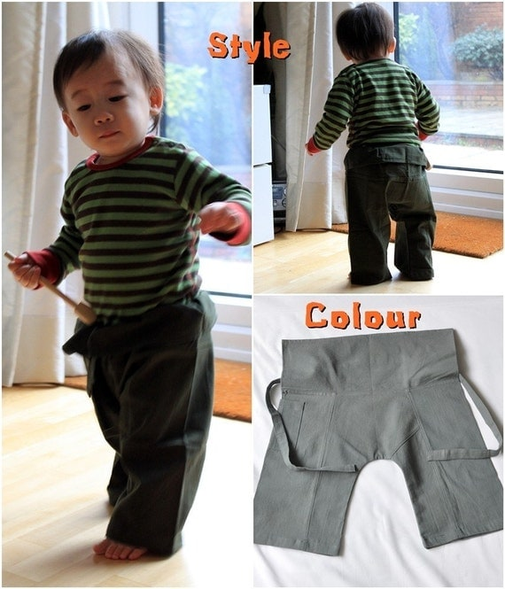 Kid's fisherman pants (Grey) 4T-5T