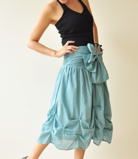 SALE 50% Baby Doll.... Blue Cotton Dress/Skirt