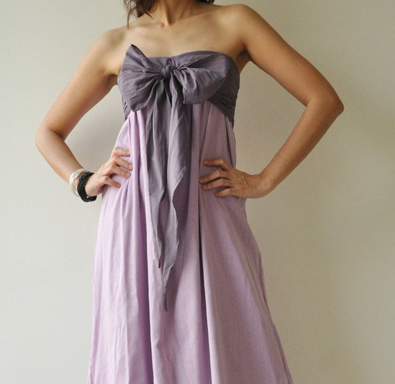 SALE 20% Feel So Good ...Purple Halter Maxi Cotton dress  2 Sizes Available