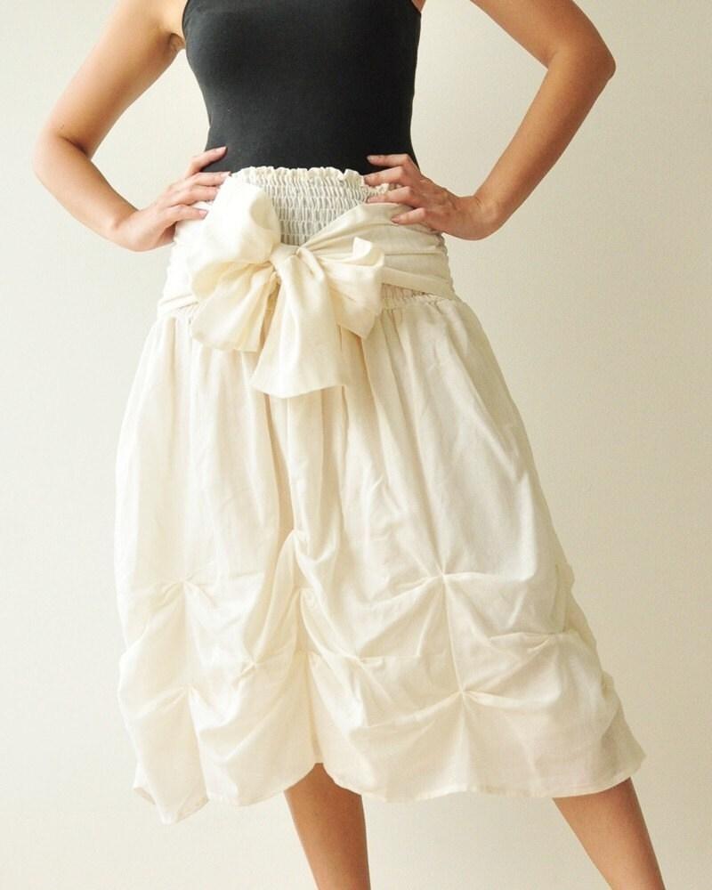 Baby Doll White Cotton Dress Skirt