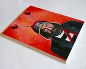 Roberto Gomez Bolanos Chavo Del Ocho Original Mexican Pop Art Painting - 11x14in Panel