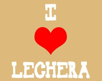 I Heart Lechera Mexican Pop Art Print