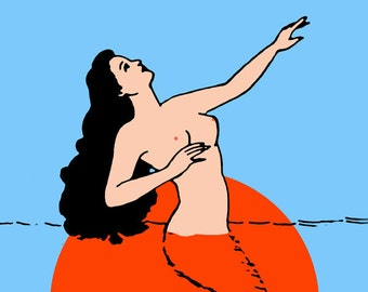 La Sirena Loteria Mexican Pop Art Print