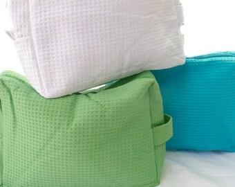 Personalized cosmetic bag, monogrammed makeup bag,
