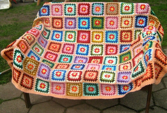 Granny square blanket, 20% OFF price