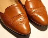 Reserved for NZfrangipani, Vintage Etienne Aigner Spectator Brown Leather Flats, Size 8.5 N